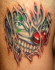 Evil-Clown-Tattoo-Meaning