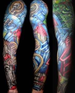 Full-Arm-Robotic-Tattoos-for-Men