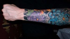 Full-Arm-Tattoos-of-Flowers