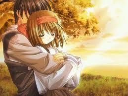 gambar-kartun-animasi-jepang-romantis-pelukan